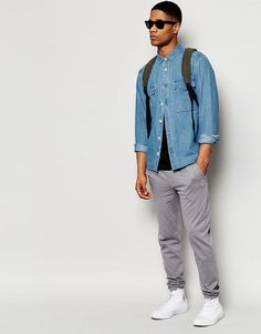 Image 4 ofASOS Skinny Joggers In Lightweight Fabric In Grey