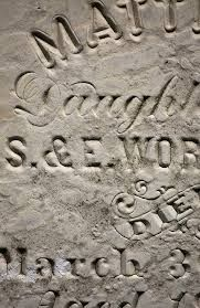 19th century typography in stone