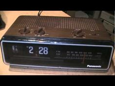 1970s Panasonic flip clock radio with hi-fi AM