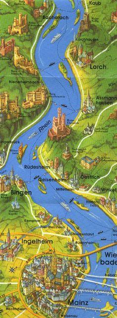 Germany. Rhine River (Mainz to Bacharach)