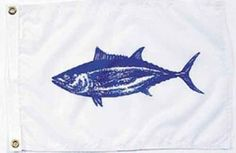 Tuna Nautical Fun Flag - Nylon - 12x18""