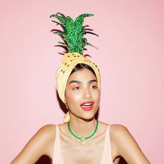 Piña Colada / pineapple costume headpiece