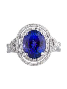 3.92ct Tanzanite and Diamond Dinner Ring - Womens Fine Jewelry - FJR20116 | The RealReal