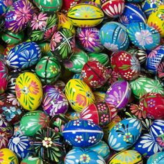 Polish Easter Eggs (pisanki) from the Polish Art Center in Hamtramck, MI. My collection at home contains both the eggs I bought in Poland and eggs from my busia's collection. :)