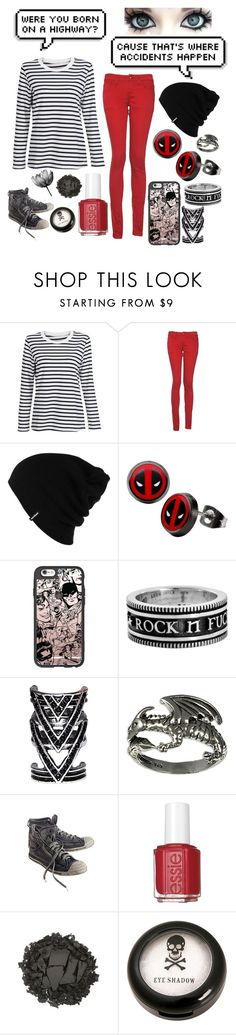 """Accident"" by headphones-girl ❤ liked on Polyvore featuring WithChic, Monkee Genes, Patagonia, Casetify, King Baby Studio, Diesel, Essie and Urban Decay"