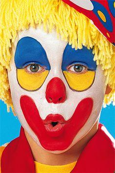 clown schminken augenschatten rote nase rund lila per cke locken rote herzen karneval. Black Bedroom Furniture Sets. Home Design Ideas