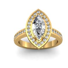 1.10ct. tw. 10K Yellow Gold Marquise Cut Diamond by WorldJewels