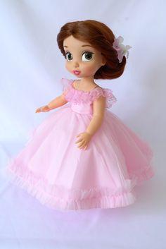 Pink ball gown/ doll clothes for Disney animator doll Disney Baby Dolls, Disney Princess Dolls, Baby Disney, Cinderella Doll, Disney Animator Doll, Toddler Dolls, Diy Dress, Custom Dolls, Beautiful Dolls