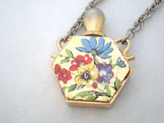 vintage perfume bottle necklace