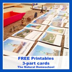 The Natural Homeschool: Around the World and Landmarks FREE 3-part Cards Printable and Lessons
