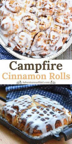 Two simple ways to make cinnamon rolls, grilled or over the campfire. Ooey gooey… Two simple ways to make cinnamon rolls, grilled or over the campfire. Ooey gooey, deliciously easy camping recipe you can make and cook outdoors! Camping Desserts, Camping Food Make Ahead, Camping Recipes, Camping Dishes, Camping Breakfast Recipes, Camping Food Healthy, Campfire Breakfast, Vegetarian Camping, Camping Menu