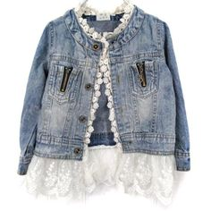 online shopping for Artfasion Kids/Girls Jean Jacket Toddler Spring Denim Jacket Lace Outwear Cowboy Overcoat from top store. See new offer for Artfasion Kids/Girls Jean Jacket Toddler Spring Denim Jacket Lace Outwear Cowboy Overcoat Denim Jeans, Lace Jeans, Denim And Lace, Denim Coat, Girls Denim Jacket, Jean Jacket For Girls, Girls Jeans, Lace Jacket, Outfit Jeans