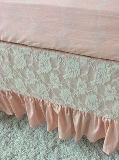 Bohemian Buffalo, Peach, and Ivory Bumperless Crib Bedding