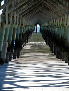 underside of Folly Beach pier - Charleston, SC