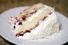 Raspberry Lemon Coconut Cake. HOW can this be?! My absolute faves all in ONE cake?! No.Freaking.Way. Now I know what I want for my b-day cake this year!
