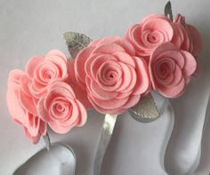 Felt Flower Headband Felt Flower Garland by UponAStarBowtique