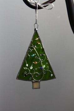 Christmas Tree Stained Glass Ornament. by loirbear on Etsy, $15.00