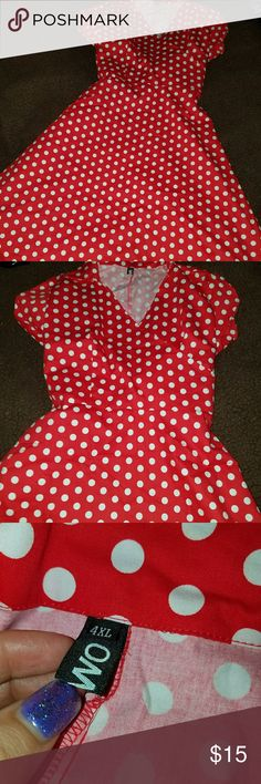 Plus size dress This is a new dress never worn just missing tags it's a size 4X but fits more like a 3X super cute Dresses