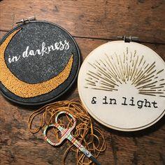 Hand embroidery #sun #moon