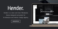 awesome Hender - Architecture and Interior Style Agency WordPress Theme (Inventive)