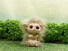 HEDGEHOG OOAK made by me fairy artist Lori Marple TROLL TRACKS troll elf dragon April- 2014