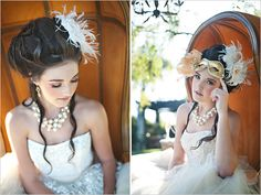 """""""Marie Antoinette meets Cinderella"""" themed wedding. I love the vintage royalty theme"""