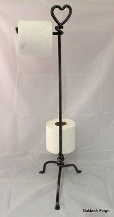 Heart Toilet Roll Stand www.oakbeckforge.co.uk