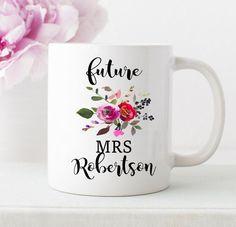 future mrs mug custom mrs cup personalized by NoteWorthyStationery