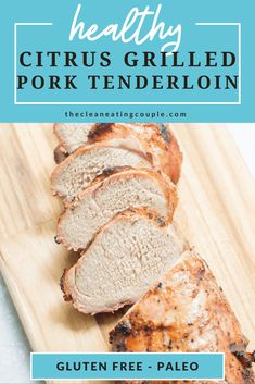 Citrus Grilled Pork Tenderloin is a delicious dinner that is SO easy to make. Healthy, paleo and perfect for meal prepping, this pork is filled with citrus flavor and a wonderful summer dinner! Healthy Grilling Recipes, Paleo Recipes Easy, Paleo Menu, Grill Recipes, Lunch Recipes, Healthy Meals, Free Recipes, Dinner Recipes, Healthy Eating