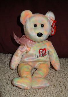 5e4477e6458 TY Beanie Baby Celebrate 15 Years Multi Tie Dye Plush Bear PE Pellets 2001  - TH  Ty