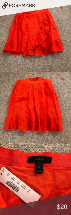 J. Crew skirt Never worn. New with tags. Size 4 petite. Runs slightly short. Fiery red J. Crew Skirts
