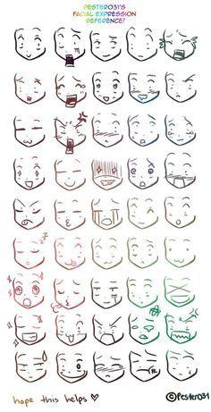 reference on drawing chibi faces Anime/Manga expresiones.A reference on drawing chibi faces on drawing chibi faces Anime/Manga expresiones.A reference on drawing chibi faces Anime/Manga expresiones. Anime Drawings Sketches, Cute Drawings, Anime Sketch, Chibi Sketch, Sketch Art, Disney Drawings, Drawing Cartoon Faces, Drawing Cartoons, Owl Drawings
