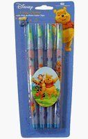"Disney Crayons set : Winnie The Pooh 4 pcs crayon pen by National Design. $7.99. Package contains 4 units of pop-a-point color tip crayons. Regular pen size, measures approx 6""H,. Disney Winnie The Pooh Crayon x 4 pcs Set, these are pop-a-point color crayons, each color crayon contains 11 colors, 1 pack for 3.99 and 3 packs for 9.99"