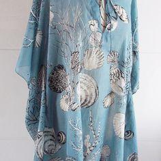 She wears seashells by the seashore... Dressing in Azura  #kaftan #beachwear #holidaysarecoming #cotton #fblogger #sea #foreversummer #surf #beachlife #beachwear #inspo #boho #blue #fashion #handmade #bohofashion #summer #personalstyle #patternlover