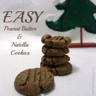 easy 4 ingredient pb  nutella cookies