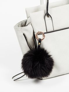 Faux Fur Pompom Bag Charm from Free People!