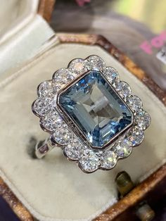 Sublime Aquamarine and Diamond Ring – Katherine James Jewellery Beautiful aquamarine with Diamond Cluster Ring, Gold Diamond Rings, James Jewelry, Fine Jewelry, Jewellery, Aquamarine Jewelry, Forever One Moissanite, Right Hand Rings, Engagement Rings