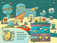 Are there bees in space? There are in Peekaboo Universe, the latest iPad children's app from PopAppFactory, the developer behind the fun Mini-U series of apps.