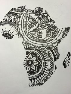 This is a drawing of mine that I did a while ago. #mandala #art #africa #drawing -Em Ragan