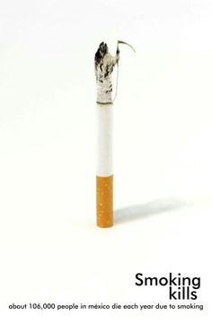 Cartel fumar mata /smoking kills