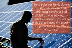Since solar can be deployed quickly and cos-effectively, delivering benefits to grid reliability along the way, our industry is uniquely poised to help states around the country comply with the EPA's Clean Power Plan! #Solar facts from @solarenergy #solarenergy #CleanPower #WestchesterNY