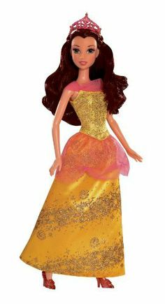 Disney Princess Sparkling Princess Belle Doll - 2012 (746775058517) Girls can recreate their favorite Disney fairytale moments Belle is dressed in her beautiful signature gown Gown has beautiful sparkling glitter details Accessories include sparkling tiara and matching shoes Collect all of your favorite Disney princesses