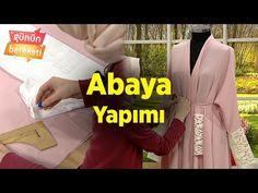 Abaya kalıbı-kesimi-dikimi Abaya sewing and Pattern drafting Sewing Hacks, Sewing Projects, Dress Patterns, Sewing Patterns, Abaya Pattern, Simple Hijab, Mode Abaya, Muslim Girls, Pattern Cutting