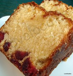 Moist Macadamia & Cherry Bottom Cake