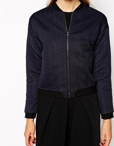 Mango Bonded Bomber Jacket...cool and casual coat from Asos.com