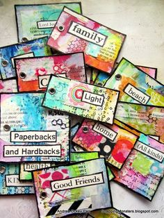 Snapping Monsters: My Other Creations: Gratitude Card Stack #artjournaling