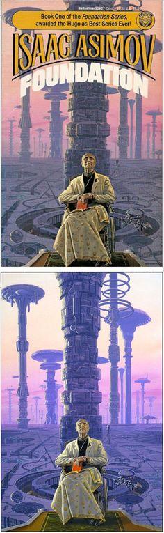 MICHAEL WHELAN - Foundation (Foundation 1) by Isaac Asimov - 1989 Del Rey / Ballantine - cover by isfdb - print by michaelwhelan.com