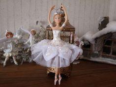 Beautiful ballerina as ballet theme Christmas decor for Nutcracker Ballet Noel, Dancer
