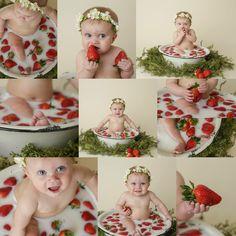 Summer Baby Pictures, Toddler Girl Pictures, Baby Girl Photos, Newborn Photos, Milk Bath Photography, Baby Girl Photography, Baby Milk Bath, Milk Bath Photos, Baby Fruit