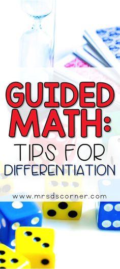 Tips and tricks for differentiating groups for Guided Math in special ed classrooms. Math For Kids, Fun Math, Math Games, Math Activities, Maths, Math Art, Elementary Math, Kindergarten Math, Teaching Math